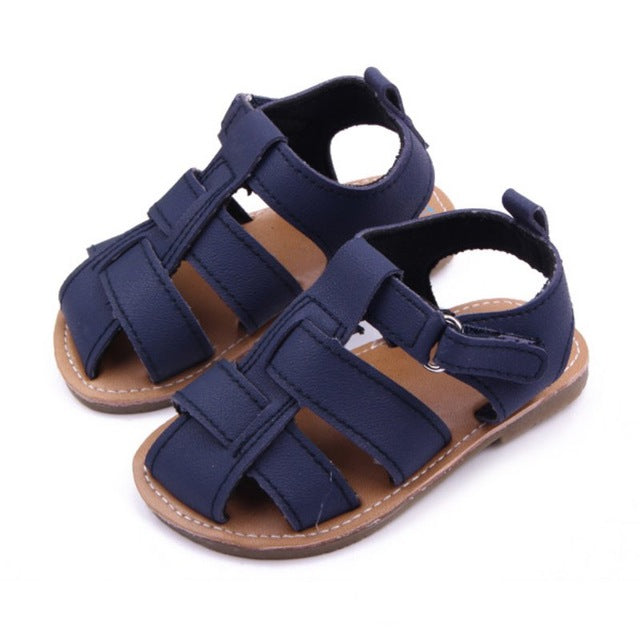 Fashion Rubber Soft Baby Shoes Boys Girls Summer Anti-Slip Leather Sandals Shoes Prewalkers 0-12M