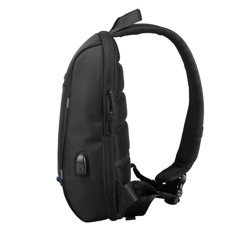 Uni  Waterproof Backpack 13.3 Inch Anti Theft Single Strap Shoulder Bag with USB Charging Port