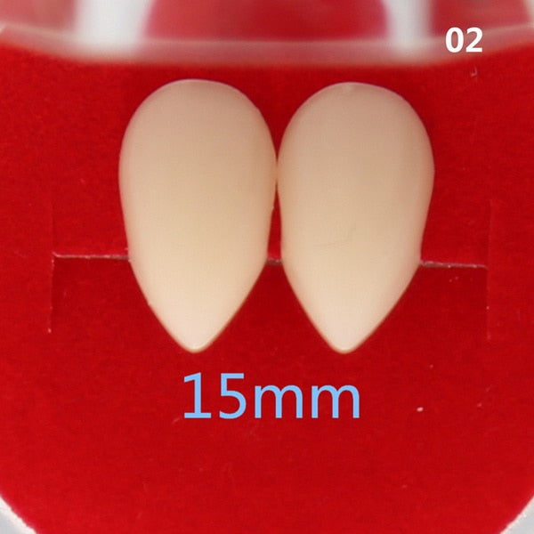 Vampire Fang Costume Dentures - Glue Sold Separately