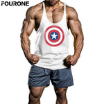 New America Gyms Singlets Mens Tank Top Shirt Bodybuilding Stringer Tank Top Cotton Fitness Vest