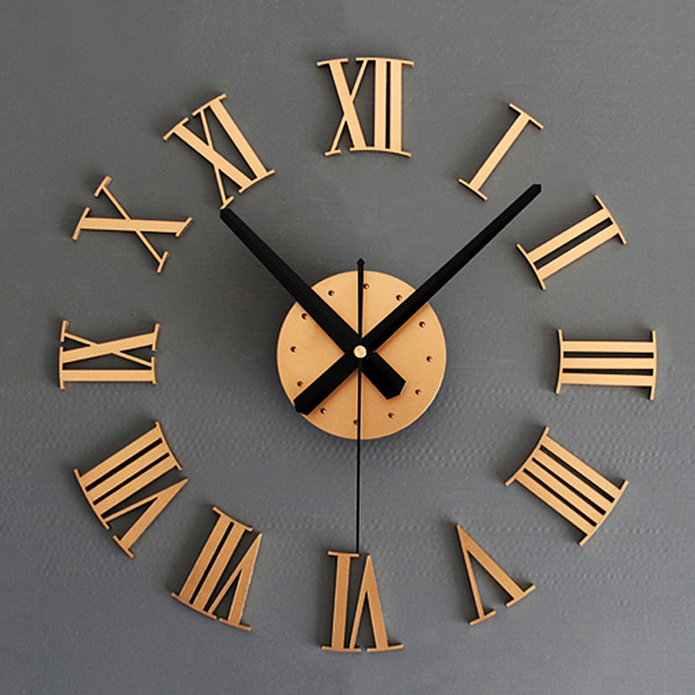 Luxury 3D Roman Numerals Decorative Wall Clock