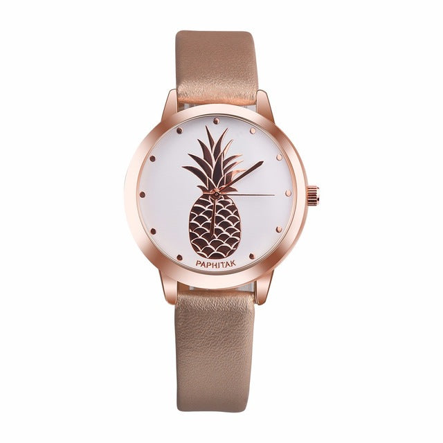 Fruit Simple Watches Women Clock Top Brand Luxury PU Leather Dress Women Watches Women Fashion Watch Relogio