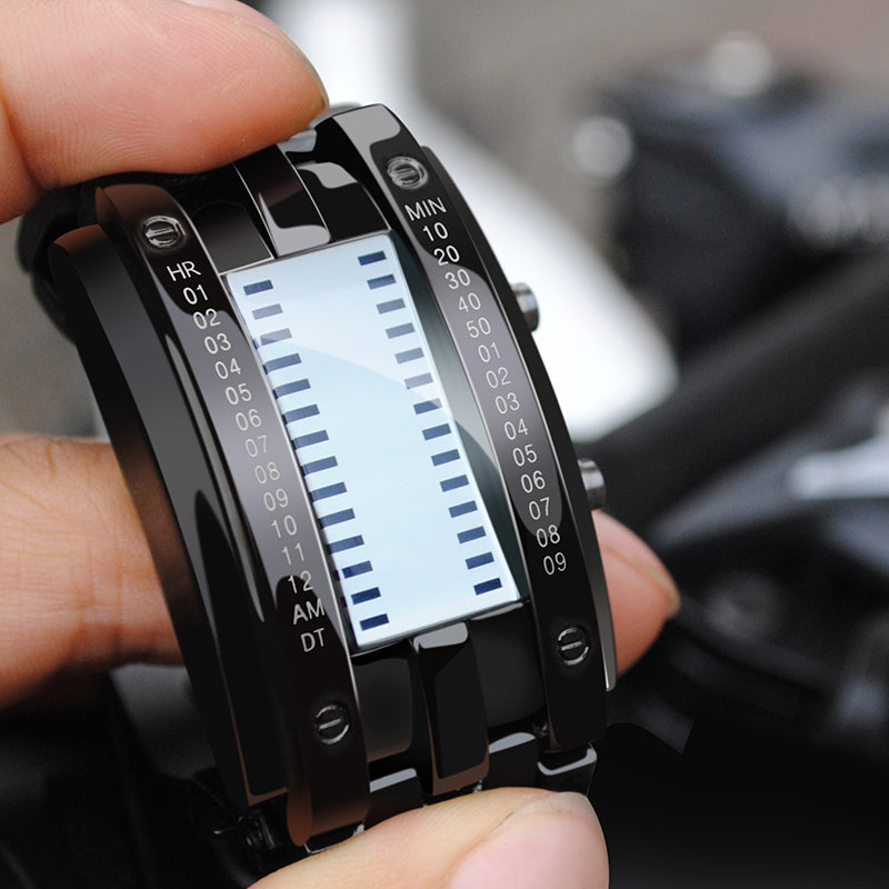 Men's Luxury Futuristic Digital LED Display Sports Wrist Watch