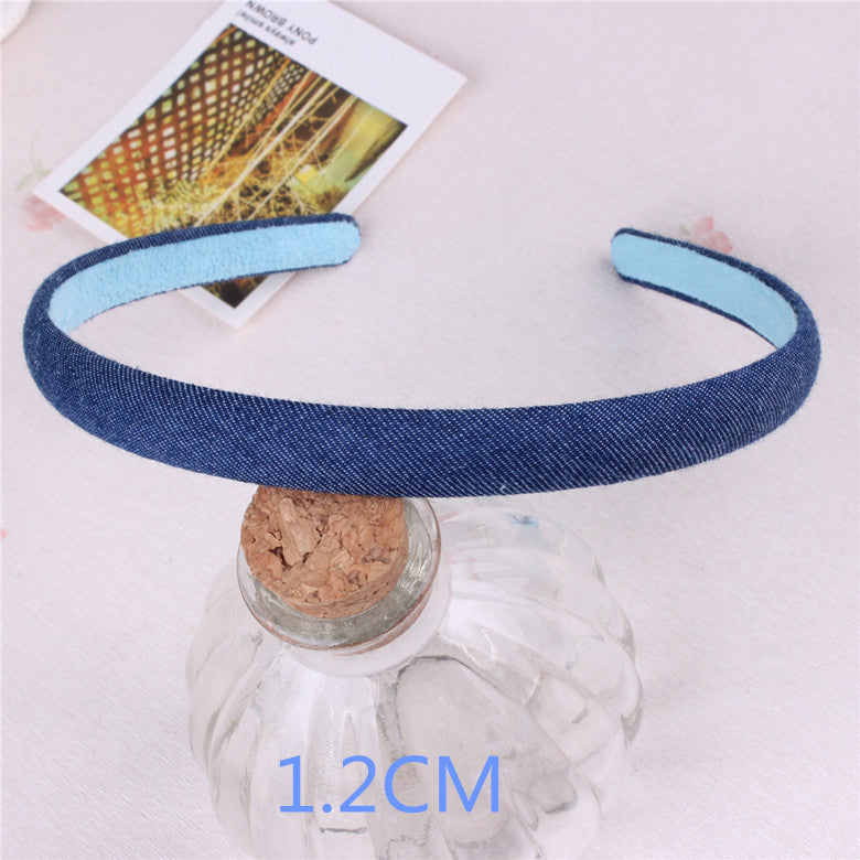 Blue Denim Leisure Headbands