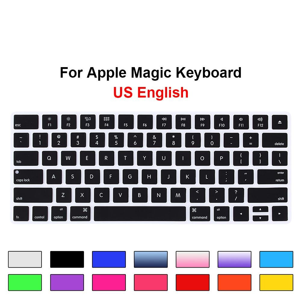 HRH Keyboard Cover Silicone Skin Keypad Cover Protector Protective Film for Apple Magic Keyboard MLA22B/A US Keyboard Version