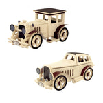 Automobile Model Building Kits Vintage Classic Car 3D Wooden Puzzle Toys for Children Adults