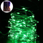 AA Battery 33FT 2M 3M 5M 10M 100 led Christmas Holiday Wedding Party Decoration Festi LED Copper Wire String Fairy Lights Lamps