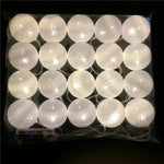 Garland LED String with 5cm White Cotton Ball Lights - Battery Powered