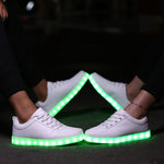 LED Shoes Women Luminous Sneakes Led Luminous Shoes Star Casual Breathable USB Charging Basket Light Up Shoes Glow Zapatos Mujer