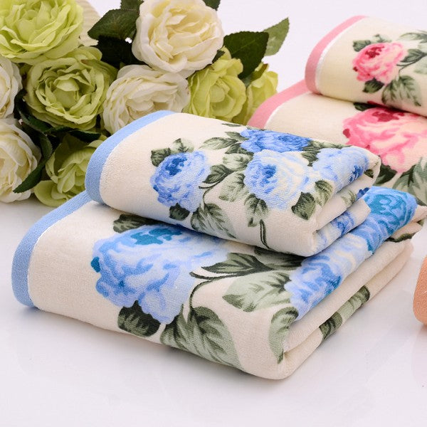 Brand New Women Peony Towel 100% Cotton Men's Towel 76 * 34cm Bath Towel 70 * 140cm High Quality Beach Towel