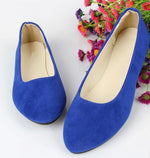 JIANBUDAN Women flat heels  spring and summer new casual flat shoes solid everyday shoes Ballet flat shoes size 35-43