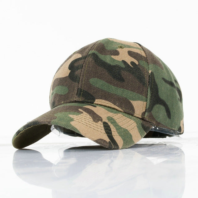 Unisex Army Camo Cap Camouflage Baseball Hats For Men Blank Desert Camo Snapback Hat Camping Hiking Hunting CS Caps YY113
