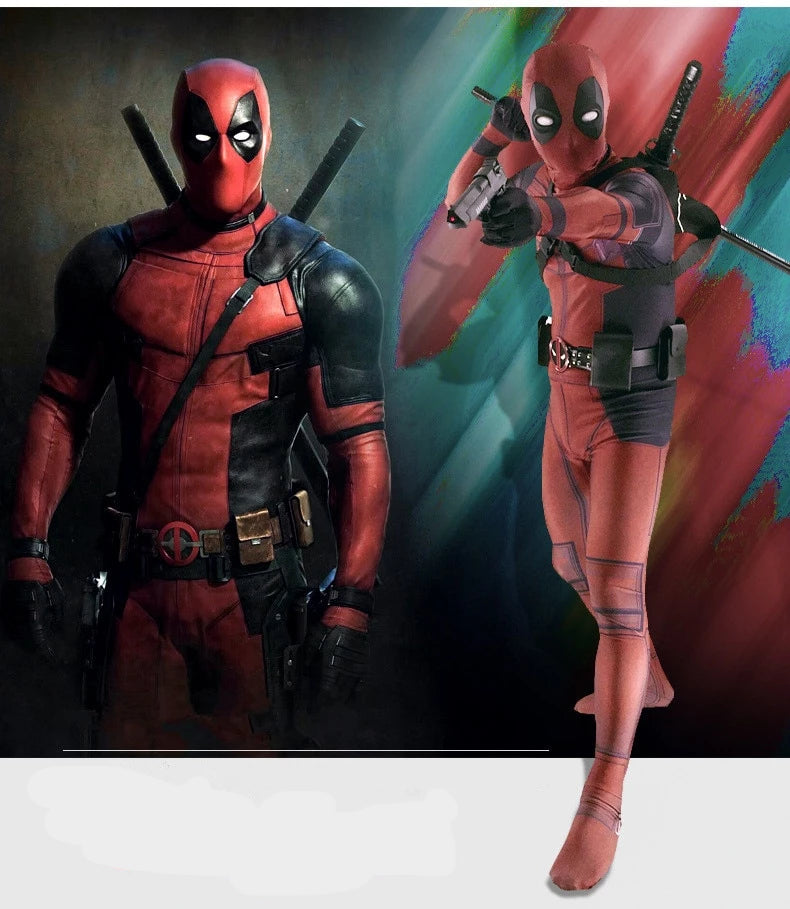 Deadpool Spandex Bodysuit & Accessories Costume