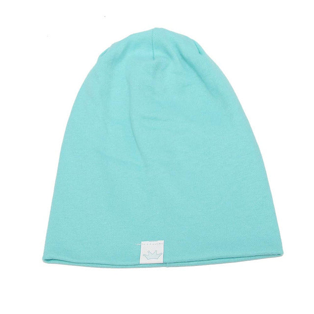 Spring Uni  Hat Babywear Boy Girl Solid Cotton Skullies Smooth Warm Children Hat Cap Beanies Sombrero For Kids De12