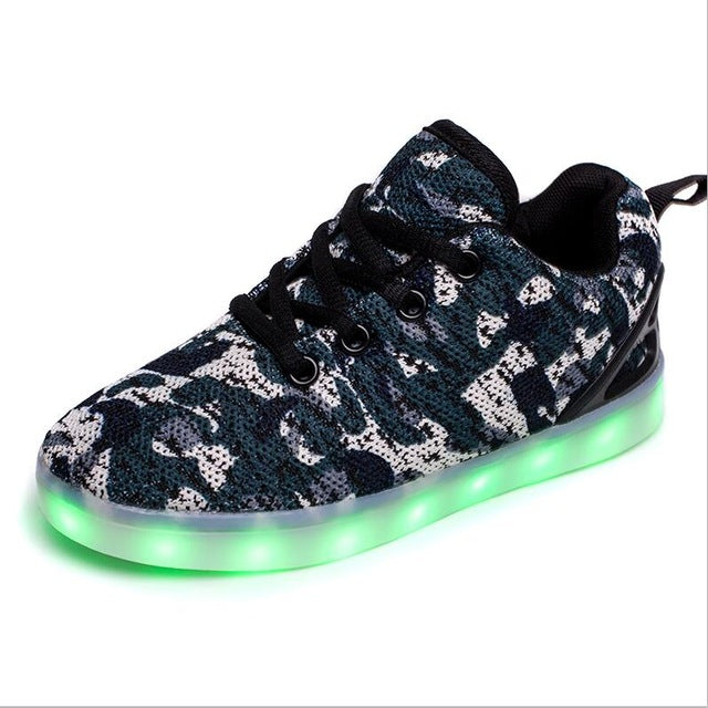 New USB rechargeable Children Led Shoes With Light boys girls casual shoes Light Up Glowing