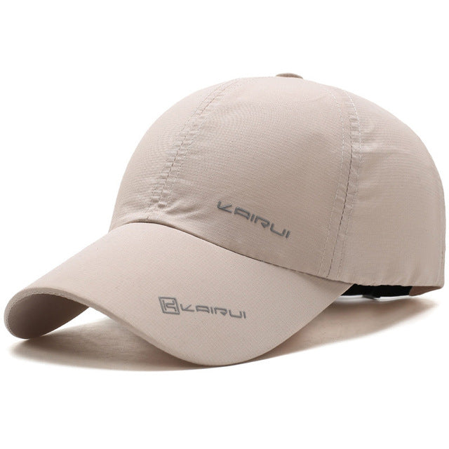 Solid Breathable Sports Baseball Cap