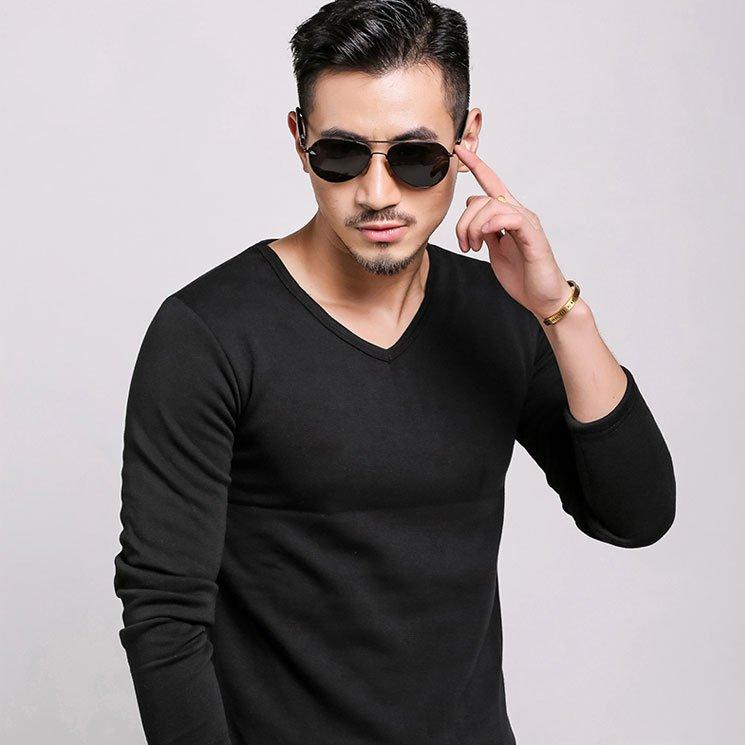 Men's Thermal Long Sleeve Pullover Shirt