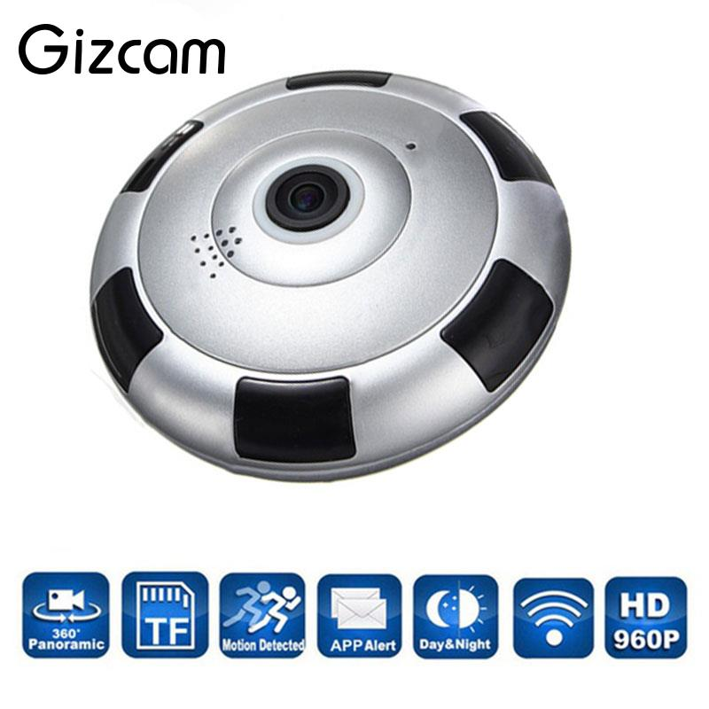 Gizcam Wireless WiFi HD 360 Degree Fisheye Panoramic IP Camera IR Night Vision