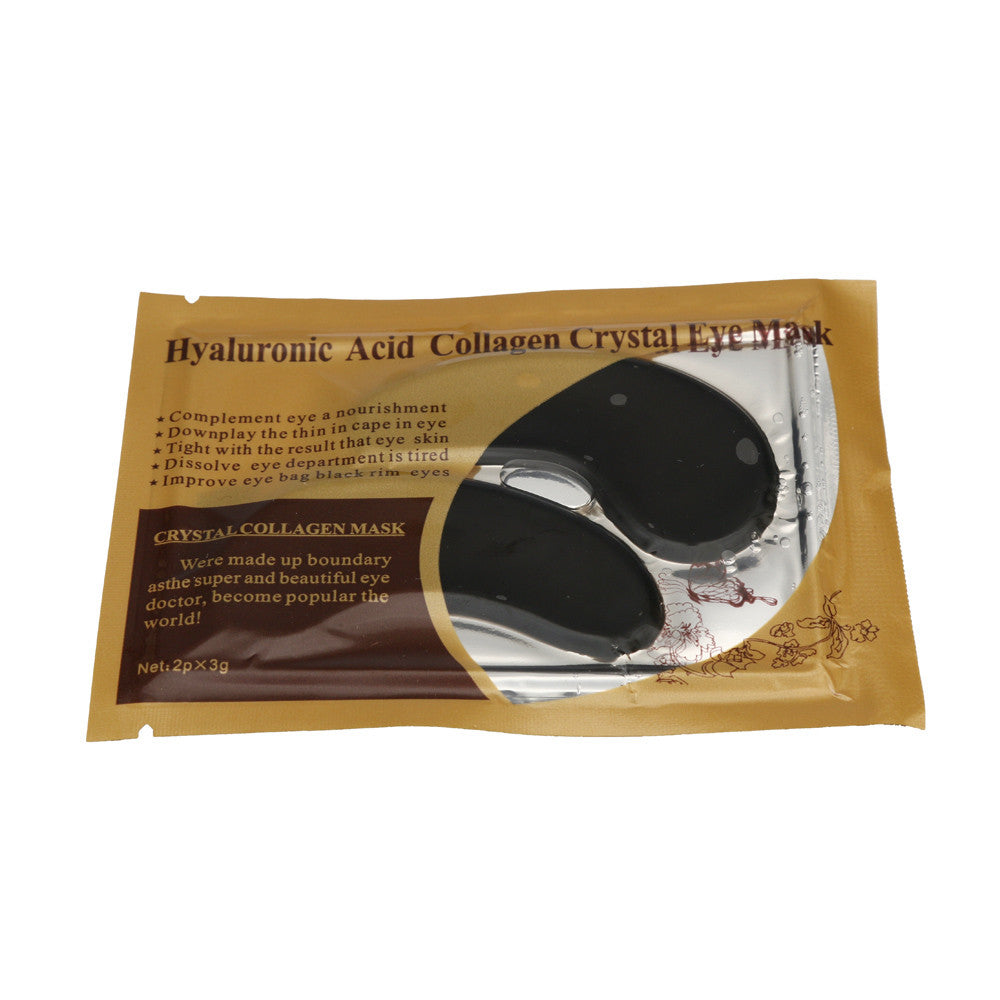 Black Eye Mask Hyaluronic Acid Collagen Crystal Collagen Aging Wrinkle Under Crystal Gel Patch Anti Mask 5JY6