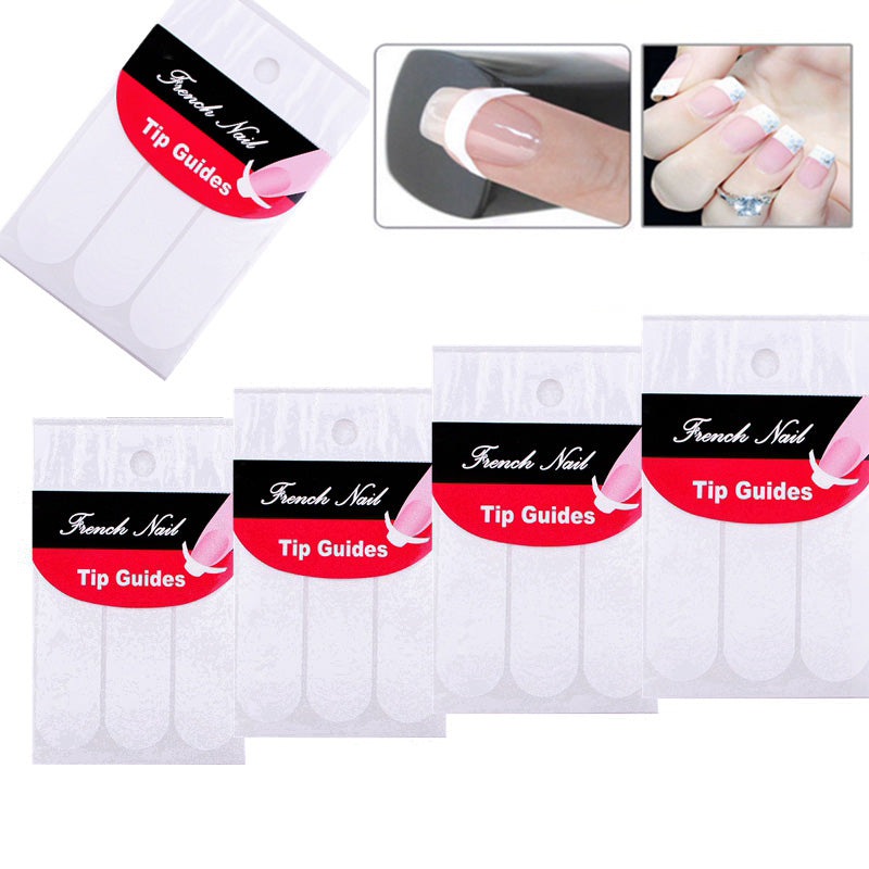 5 Packs French Manicure Nail Art Stickers