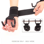Weight Lifting Hook Gym Bar Wrist Support Grips
