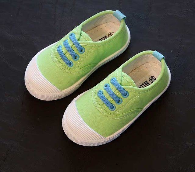New children shoes for kids sneakers baby boys and girls canvas sports shoes candy 5 colors
