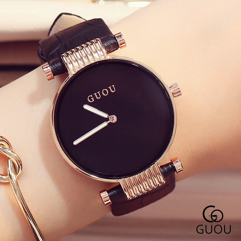 GUOU Luxury Women's Watches Simple Fashion Wrist Watch Women Watches Ladies Watch