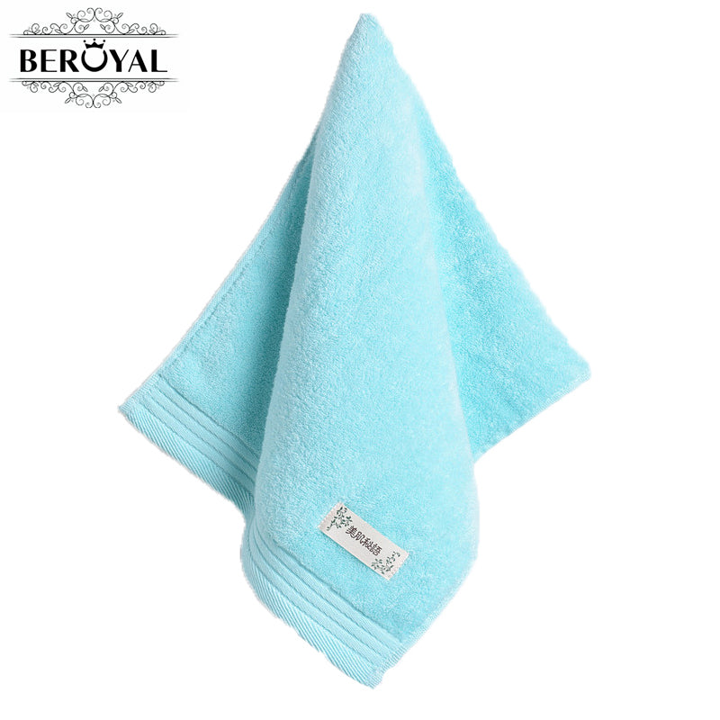 Beroyal Brand High Quality Hand Towel - 1PC 34*74cm 100% Cotton Face Cloth Solid Towel Quick-Drying Salon Towels Toalha