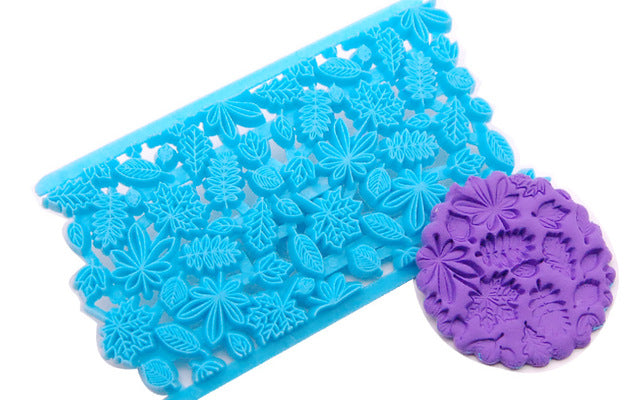 Fondant Cake Embosser Mold Flower Cookie Cutters