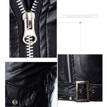 LASPERAL Plus Size Leather Jackets