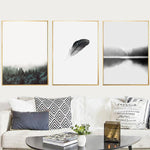 Modern Landscape Printed Painting Decorative Minimalism Art Canvas Wall Posters Living Room Nordic Decor No Poster Frame Picture