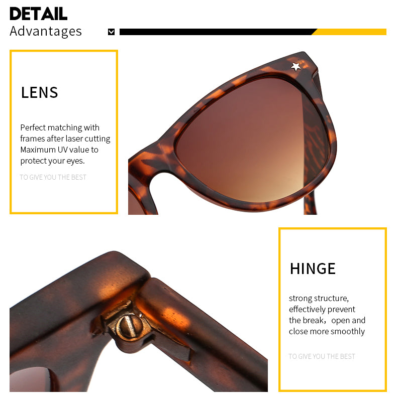 New Fashion Sunglasses Women Men Vintage Sun Glasses Retro Classic Shades Brand Designer Turtoise Gafas de sol UV Protect