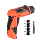 6V3.5NM Rechargeable Screwdriver with Twistable Cordless Electric Screwdriver Drill Power Tools