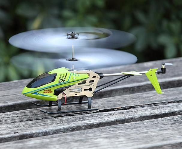 Mini 6 Axis Alloy Body LED Flashing RC Helicopter