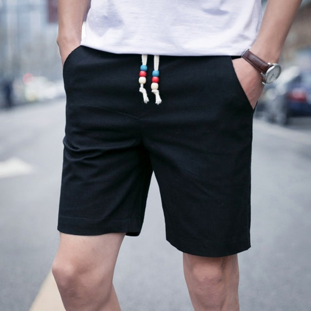 Summer Trendy Casual Shorts Men Fashion Beach White/Black Shorts Plus Size short For Male S4