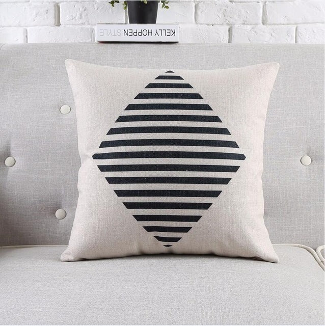 Decorative | Tropical | Cushion | Pillow | Decor | Cover | Chair | White | Black | Print | Sofa | Home | Case