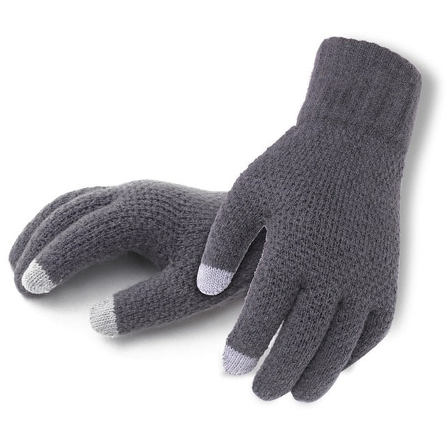 Men's Cashmere Knitted Winter Touch Screen Gloves