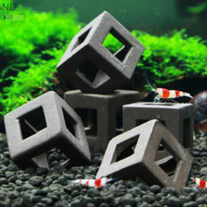 5pcs Fish Tank Ornament  Ceramic Crafts Landscaping Ceramic House Shelter For Small Shrimp And Fishes Aquarium Decorations