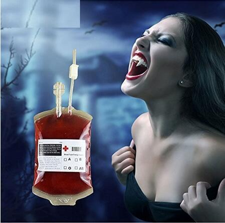 350ml Halloween Prop Blood Drink Container Drinking Bag