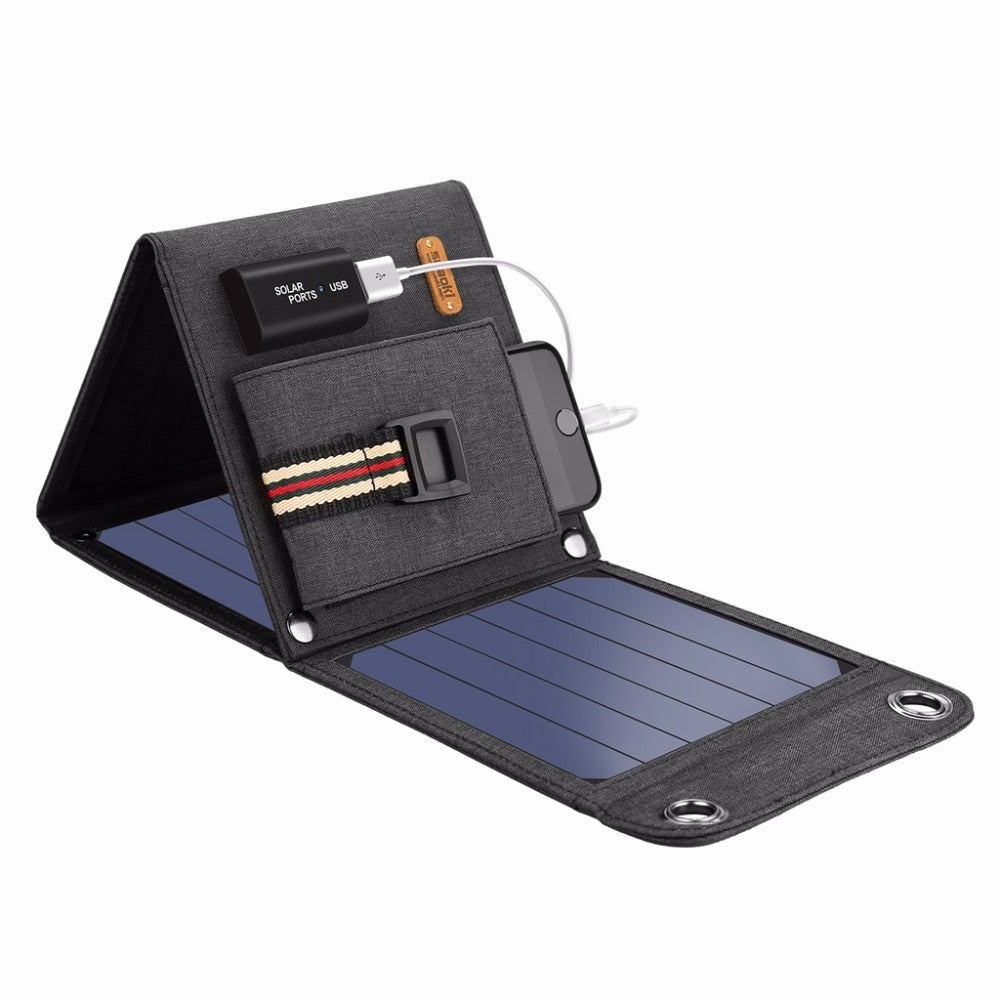 Portable Solar Powered 14W USB Charger