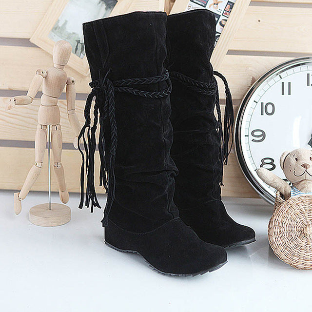 Fashion | Autumn | Winter | Women | Knee | Lady | Shoe | Boot | High | Plus | Size | New