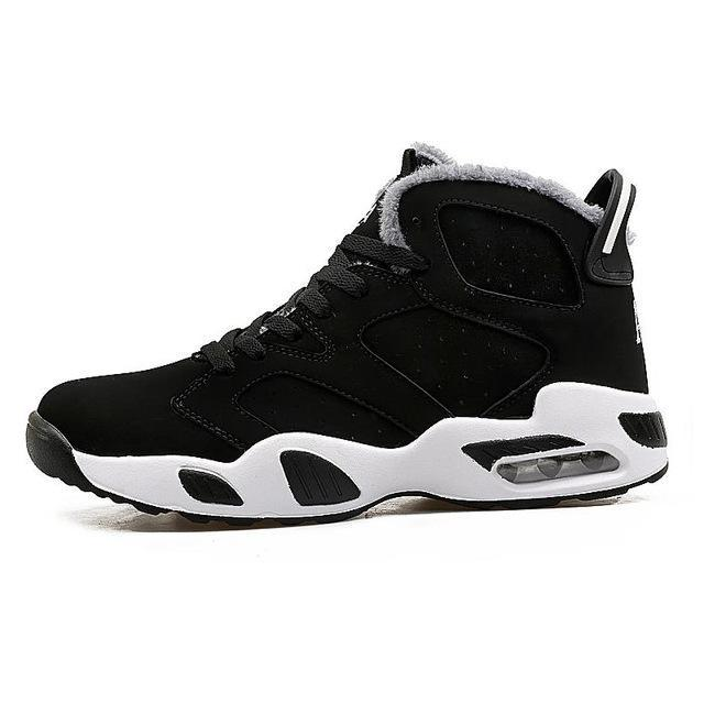 Men's Rubber High Tops Plush Ankle Boots