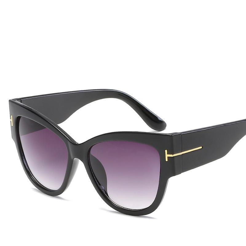 Women's Top Fashion Cat Eye Big Lens UV Protected Sunglasses