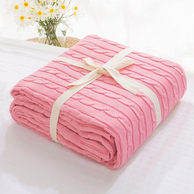 Soft Cozy 100% Cotton Woven Blanket