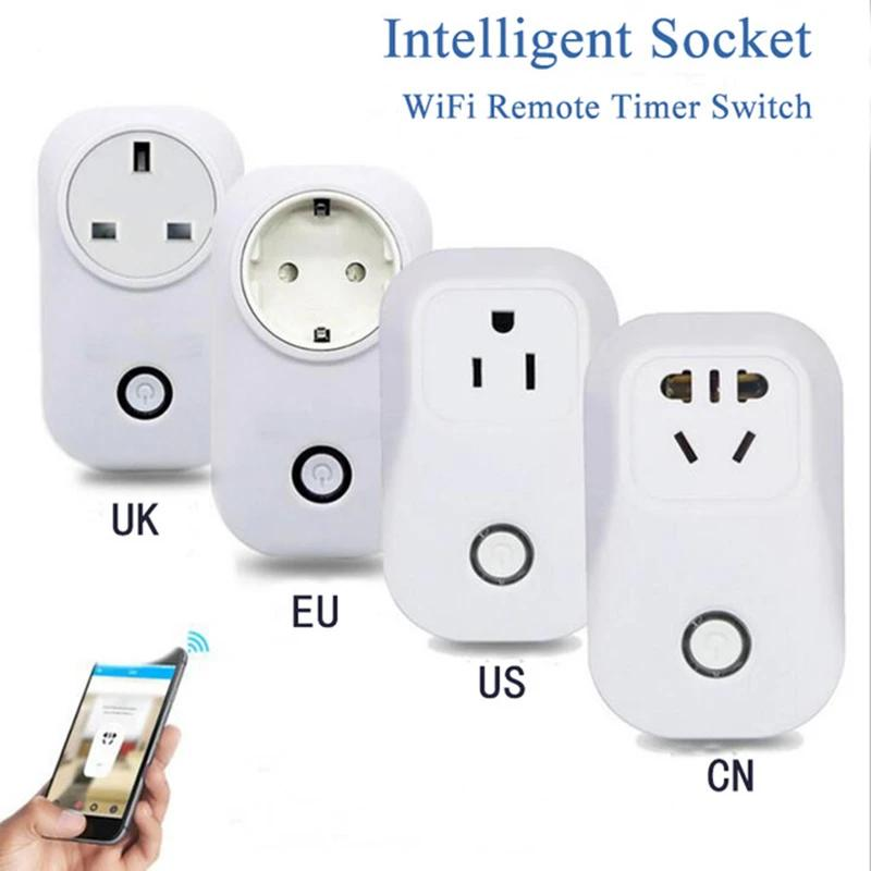 ITEAD Sonoff S20 Wifi Smart Socket Smart Home Wireless Remote Control Timer Socket EU US UK CN 10A 2200W Wifi Power Supply Plug