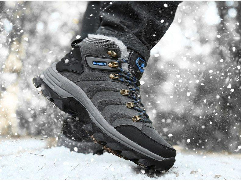 Men's Plush Warm Winter Hiking Boots Was: $133.99 Now: $37.99 and Free Shipping.