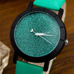 Best Price Star Minimalist Fashion Watches For Lovers Leather Strap Lady Hours Watch