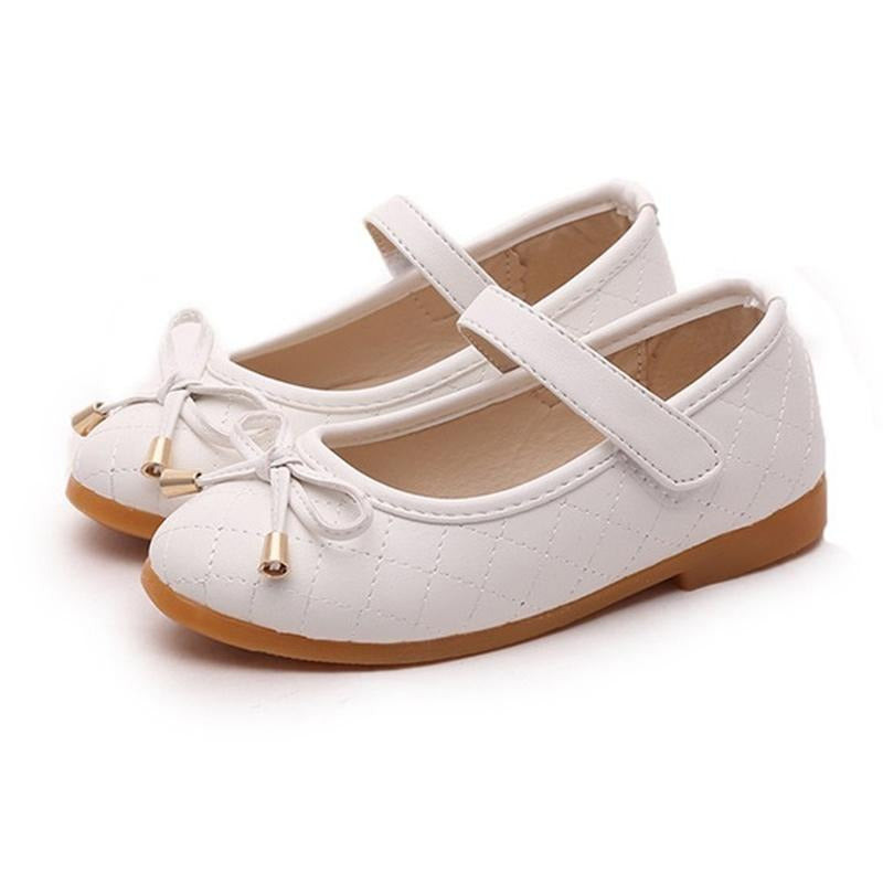 COZULMA Girls Pu Leather Shoes Children Causal Shoes Girls Princess Bow Shoes Children Strap Flat Sneaker Kids Fashion Sneaker