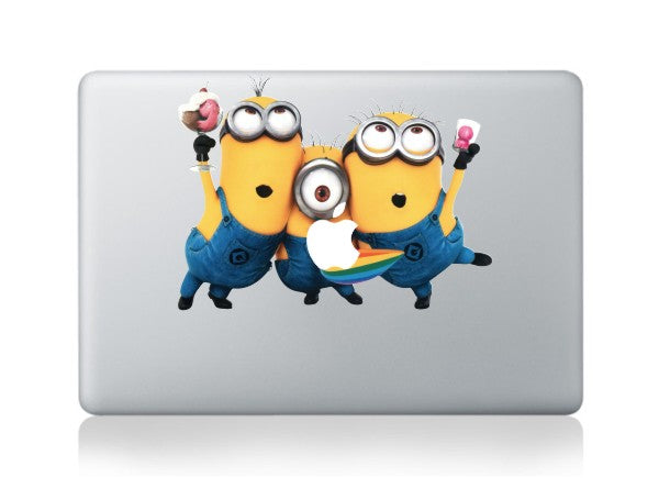 DallowayCabin New High Qulity Premium Colorful Despicable Me  Minions Removable Vinyl Sticker Decal for Macbook 11 12 13 15 inch