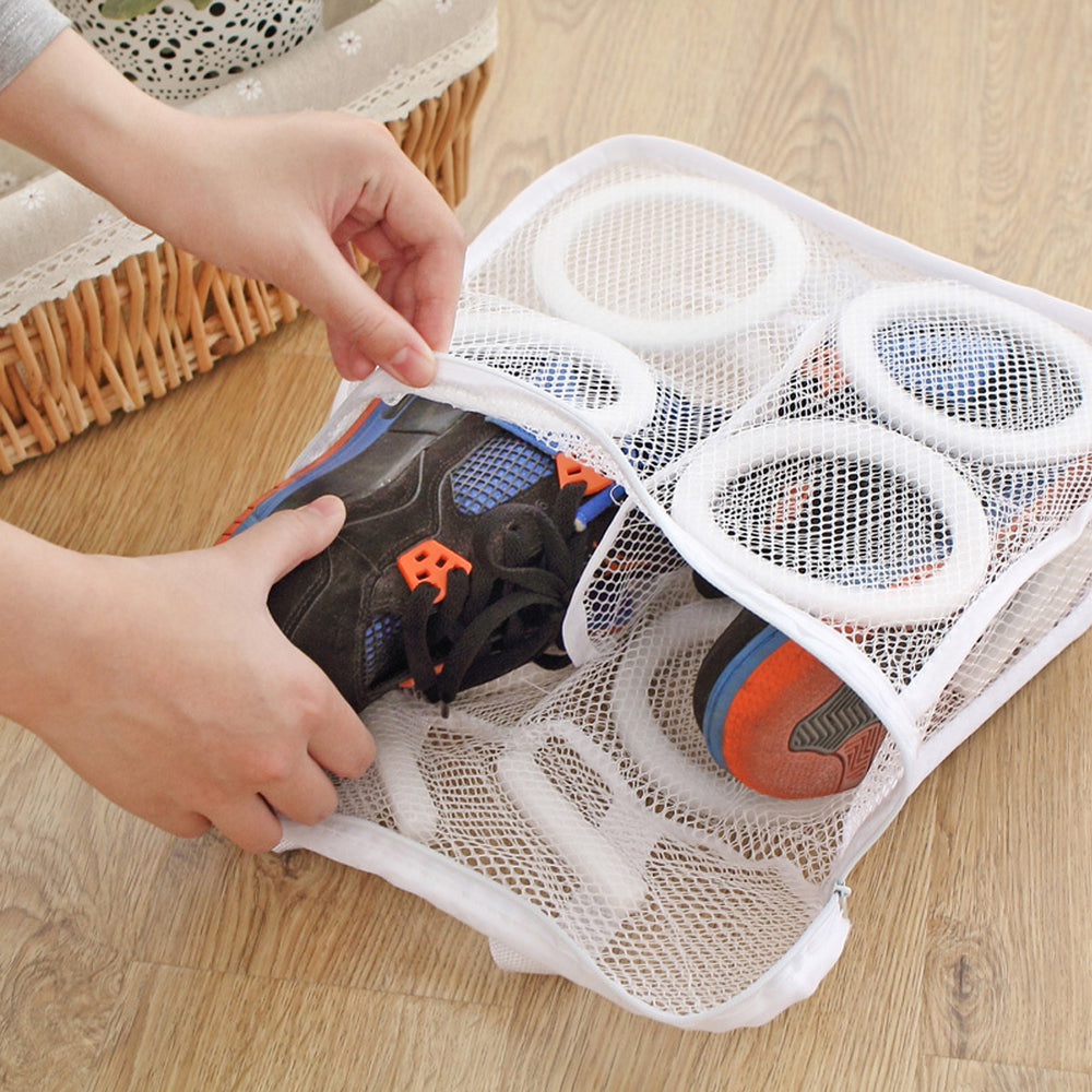 Laundry Shoes Bag Organizer Bag for shoe Mesh Laundry Shoes Bags Dry Shoe Home Organizer Portable Laundry  Washing Bags E5M1